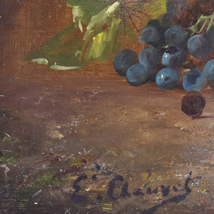 A still life painting still life art oil painting on canvas antique painting roses and grapes 19th century.jpg