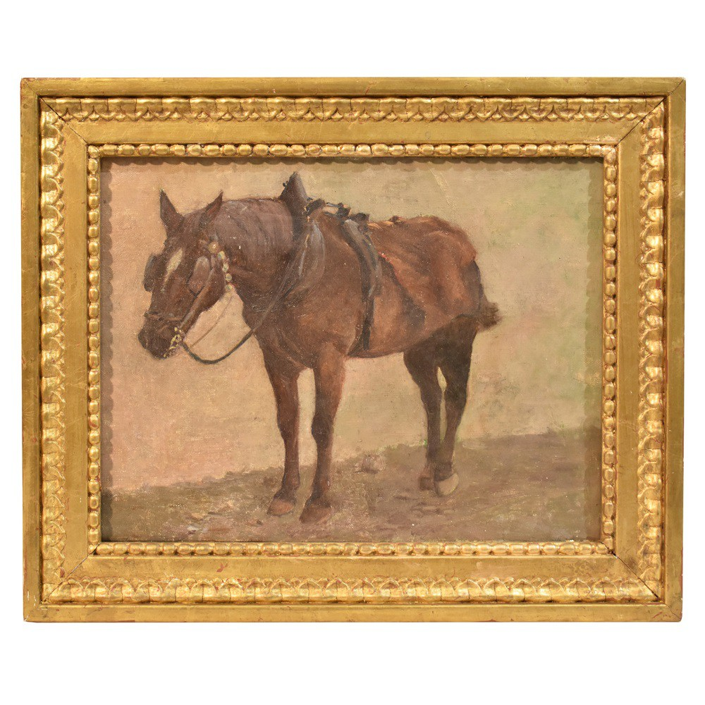 A  horse painting horses animals paintings oil on canvas paintings 19th century.jpg