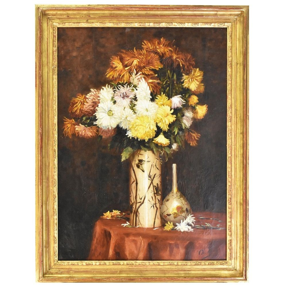 A antique flower floral artwork originaloil paintings 8005