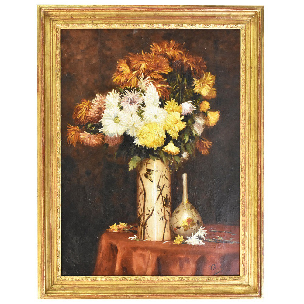 A antique flower floral artwork originaloil paintings 800