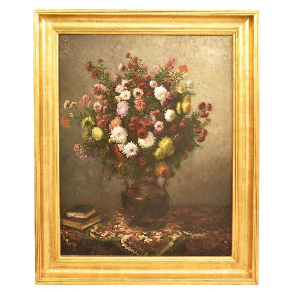 A antique flower painting floral oil painting flower canvas painting antique oil painting 19th century.jpg
