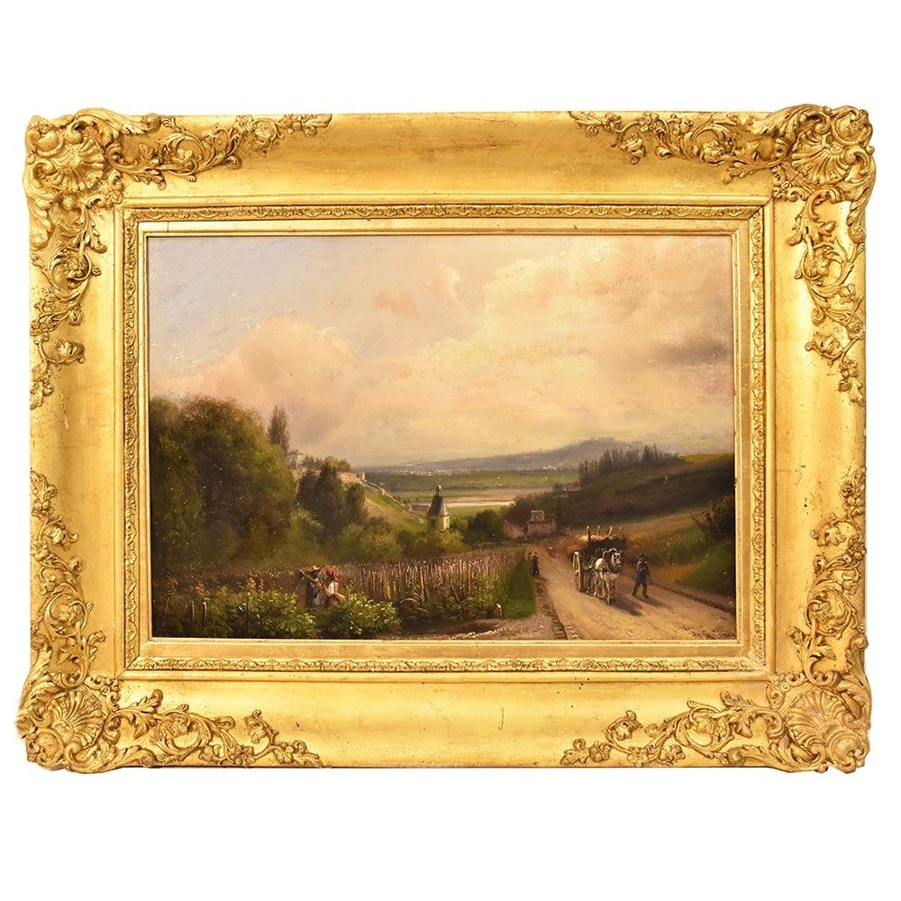 A antique landscape nature painting oil painting scenery art 19th century copia7.jpg_1