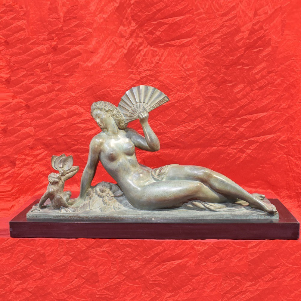 A art deco sculpture bronze sculpture bronze statues woman bronze figurines anni trenta.jpg