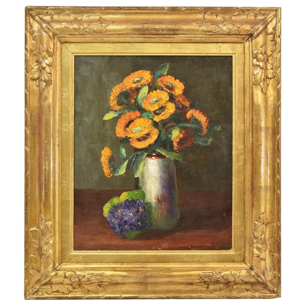 A beautiful paintings of flowers oil painting on canvas art deco floral painting 1930s.jpg