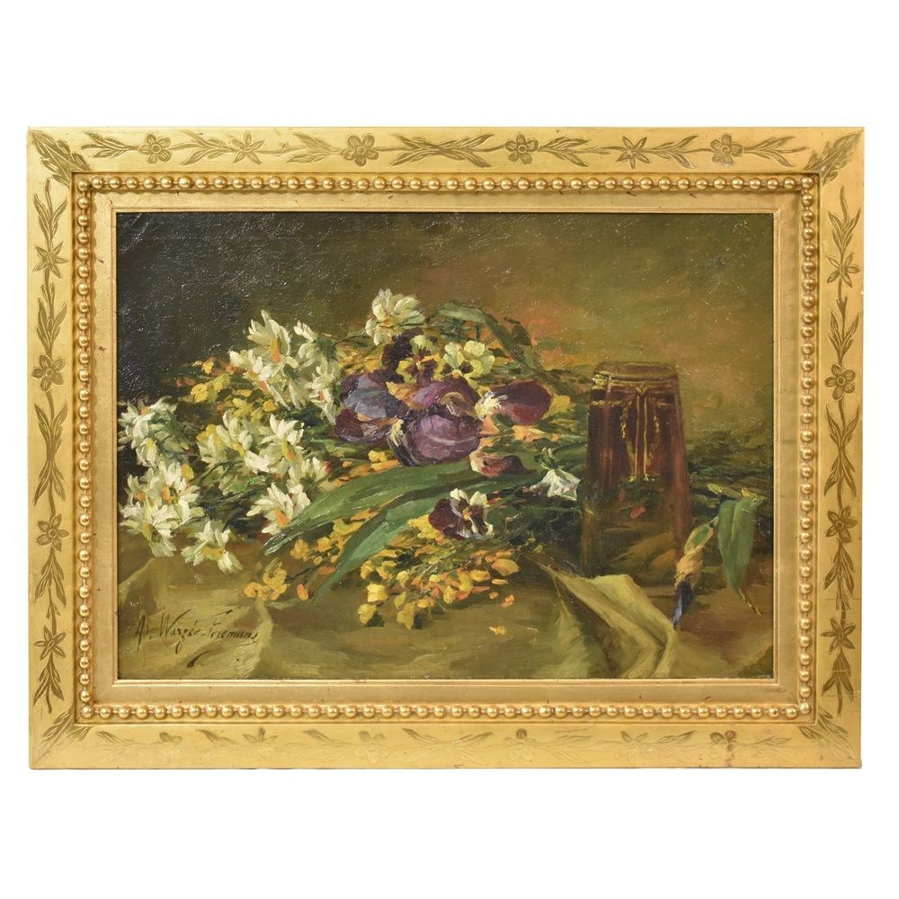 A flower painting oil painting flowers still life painting flower art paintings early twentieth century2.jpg