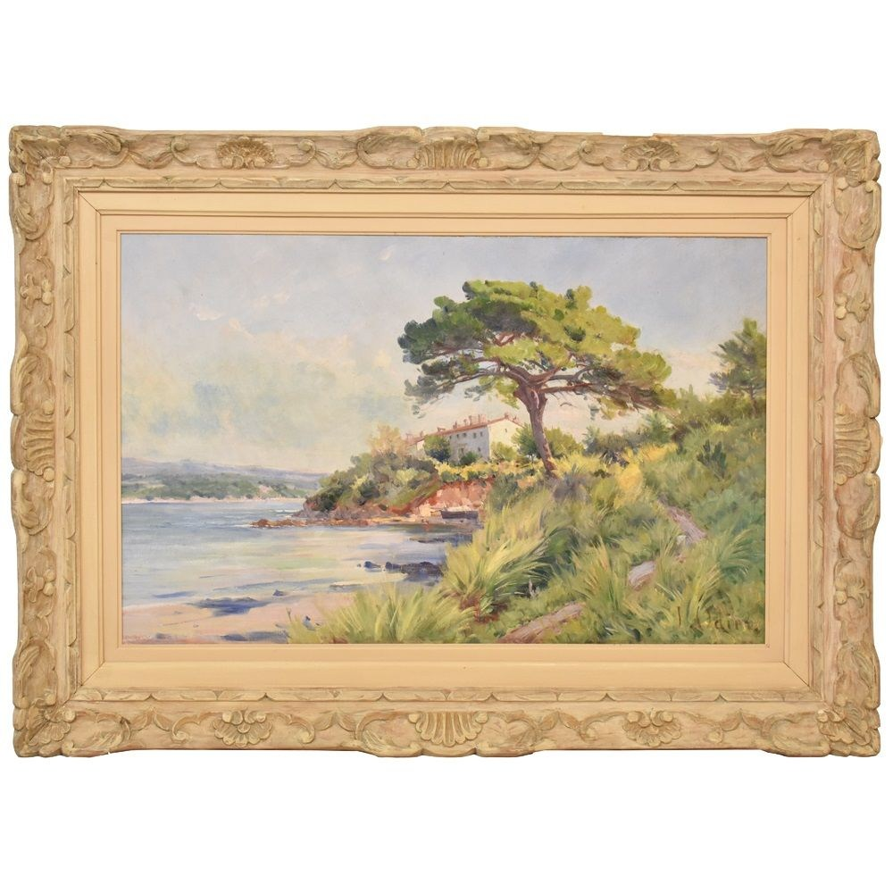 A landscape painting antique painting original oil painting landscape artwork 1800.jpg