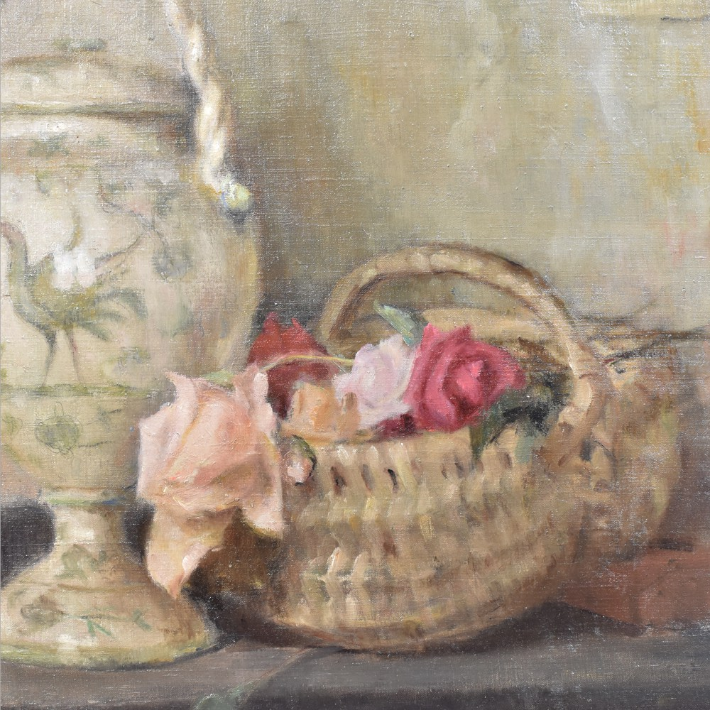 A still life painting flower painting oil painting on canvas antique painting 20th century art deco.jpg