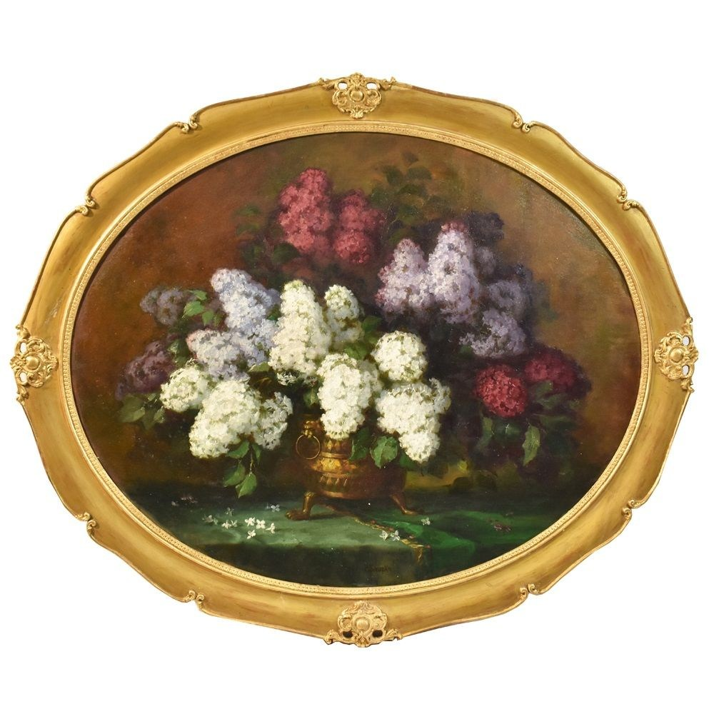 QF200 flower oil painting flower antique painting lilac 19th century.jpg