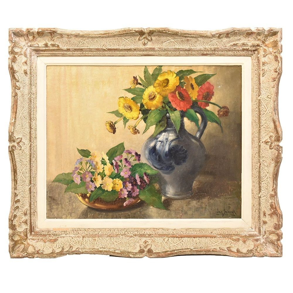 QF246 antique still life antique paintings oil painting flowers 19th century.jpg