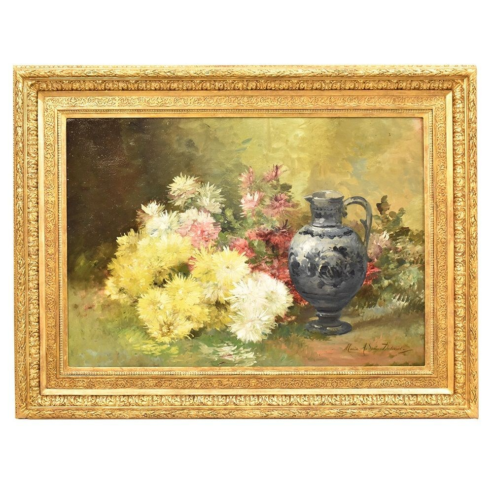 QF265 flower painting antique oil painting still life painting 19th century.jpg_1