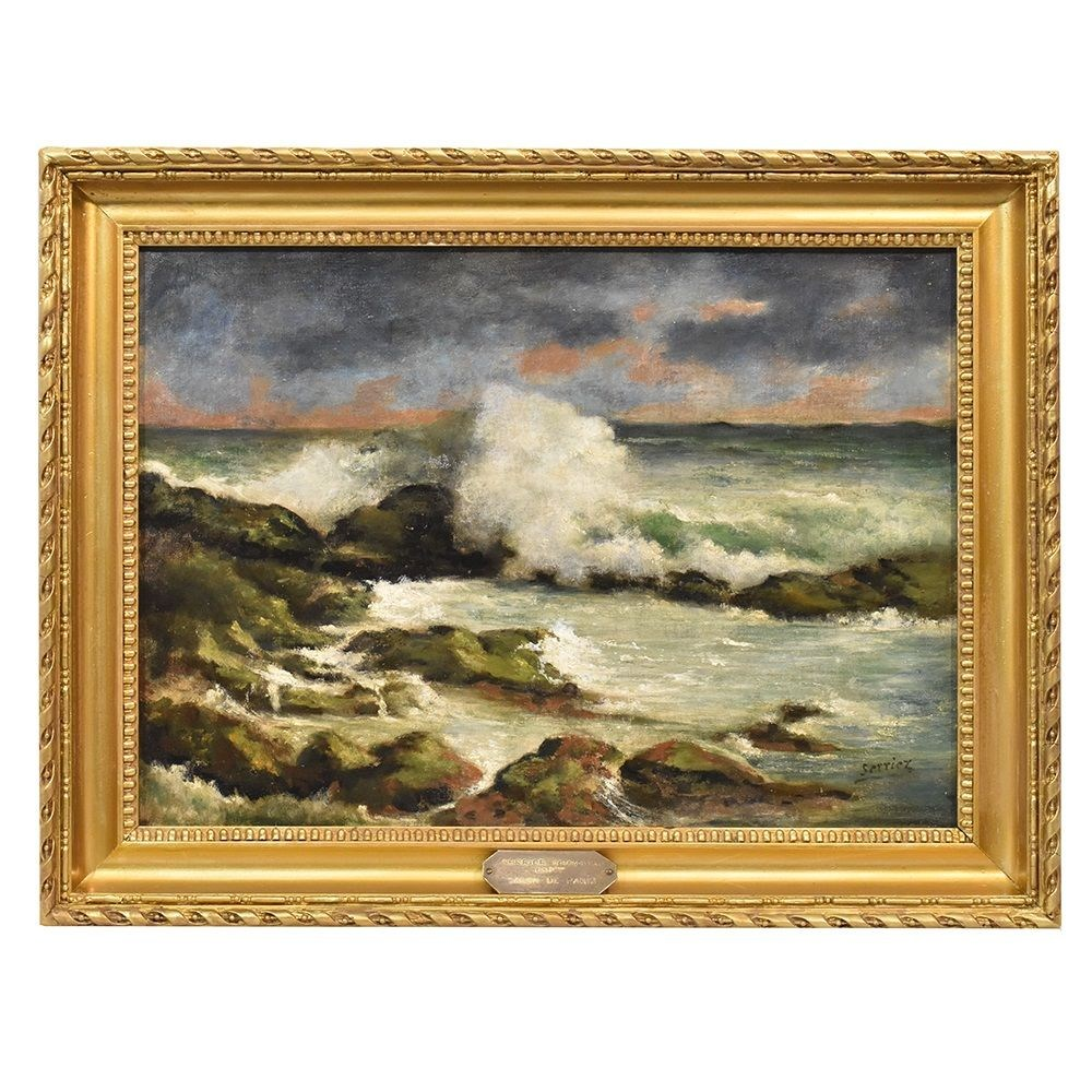 QM277 antique painting marineart seascape painting 19th century.jpg