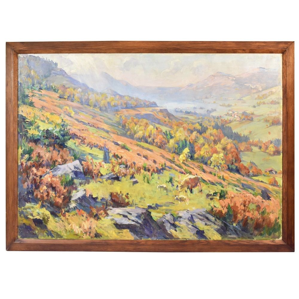 A landscape painting landscape art landscape art work scenery painting oil on canvas antique painting 19th century.jpg