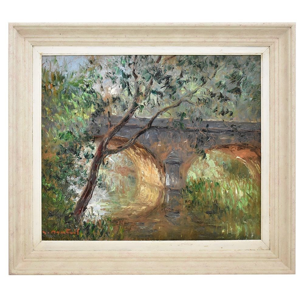 QP255 antique painting landscape painting oil painting landscape 20th century.jpg_1
