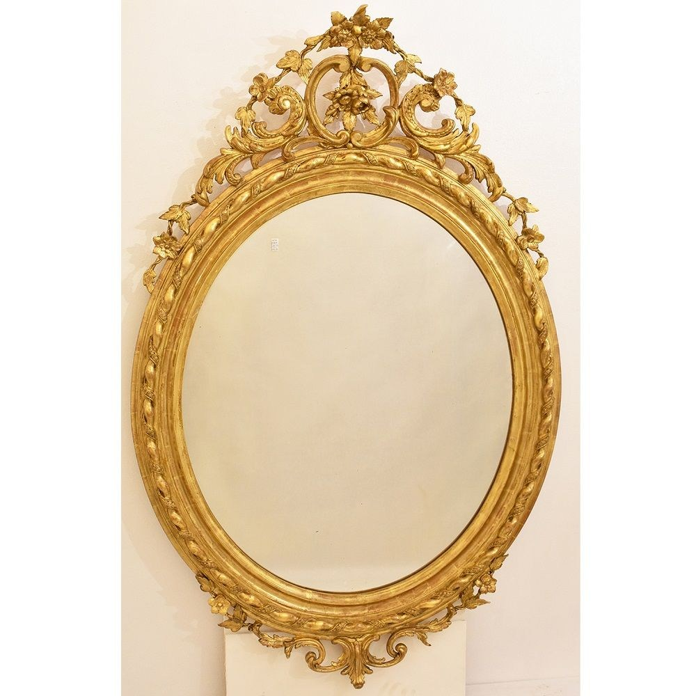 SPO100 large round mirror antique round mirror for walls gilded mirror XIX century.jpg_1