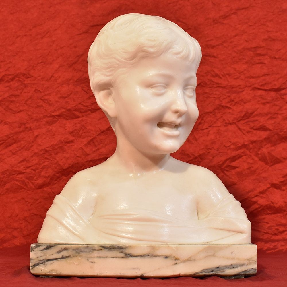 STMA44 antique sculpture antique statues boys child marble 19th century.jpg